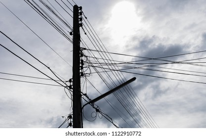 Terrific Old Vintage Messy Concrete Electric Pole Stock Photo Edit Now Wiring Cloud Nuvitbieswglorg