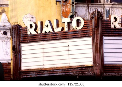 old vintage mid century sign