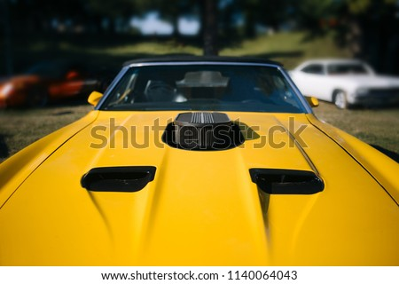 Old Vintage Muscle Car Hood Air Stock Photo Edit Now 1140064043