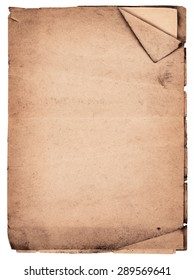 Old vintage notebook isolated on white background