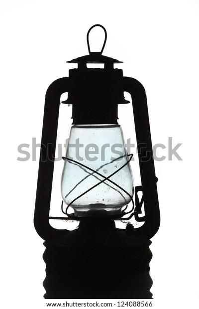 Old Vintage Oil Lamp Lamp Bat Stock Photo  Edit Now  124088566
