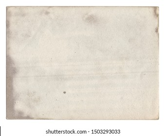 Old vintage photo paper texture with stains and scratches background