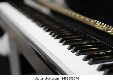 old and vintage piano or keyboard electone and electronic organ for classic musical instrument or retro romantic entertainment and music school in audio studio