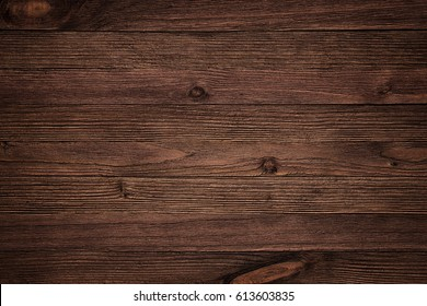 Old Vintage Planked Wood Texture Background. Top View of Rustic Wooden