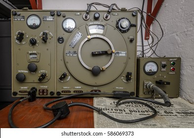 Old vintage polish military radio station from World War II