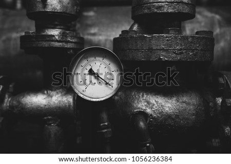 Old Vintage Retro Pressure Gauge Huge Stock Photo Edit Now