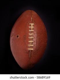 Old vintage retro worn leather  American football