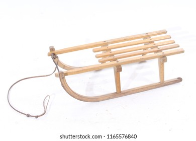 old vintage sled isolated