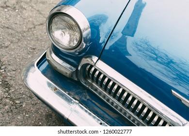 An old vintage soviet car