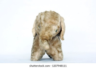 Old Vintage Stuffed Elephant Toy