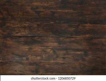 Old, vintage style, dark textured wooden background, brown wood stained style