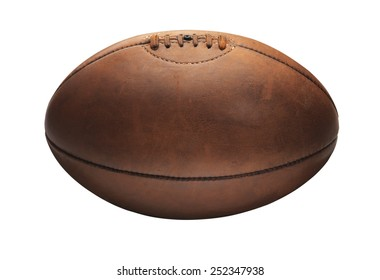Old vintage Tan Old Rugby Ball
