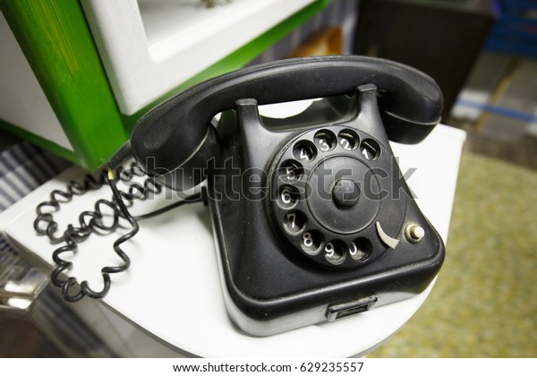 Old Vintage Telephone Rotary Dial Numbers Stock Photo (Edit Now