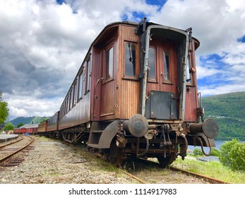 An old vintage train in Norway