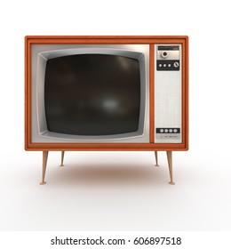 Old Vintage TV  3D illustration (3D rendering)