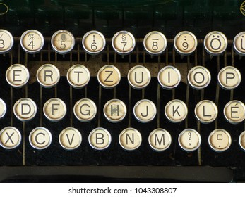 old vintage typewriter letters keyboard alphabet