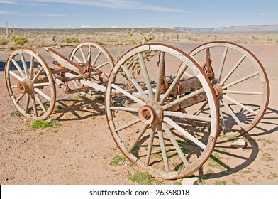 an old vintage wagon cart
