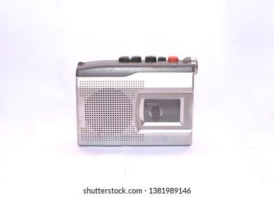 old vintage walkman cassette recorder