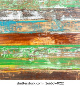 Old vintage wooden background with multi colors. Abstract grunge old color wood texture background.