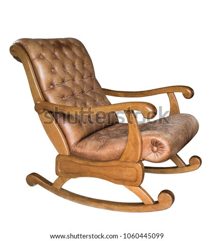 Old Vintage Wooden Rocking Chair Isolated Stock Photo Edit Now