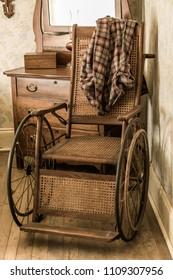 old Vintage wooden wheelchair