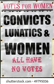 old votes for women poster