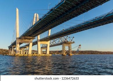 Old vs. New Tappan Zee bridge Mario Cuomo