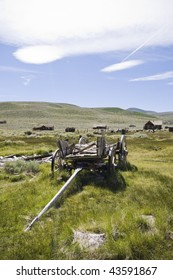 Old wagon in Bodie National State Park