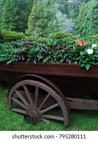 Old wagon now as an decoration