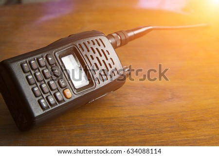 Old Walkie Talkie Placed On Wooden Stock Photo Edit Now 634088114