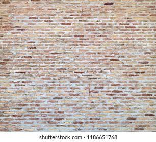 Old wall of ancient brick wall