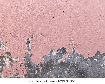 Old wall background - city building decay texture. Urban decline pattern with peeling paint.