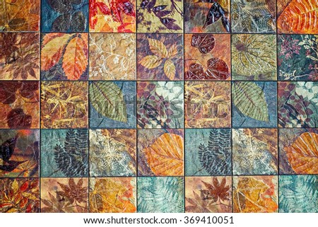 Old Wall Ceramic Tiles Patterns Handcraft Stock Photo Edit Now