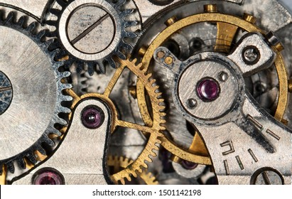 old wall clock, high resolution and detail