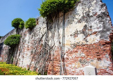 Old wall of the Dutch VOC Anping Fortress in Tainan, Taiwan, Asia