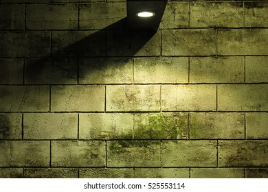 Old wall with light