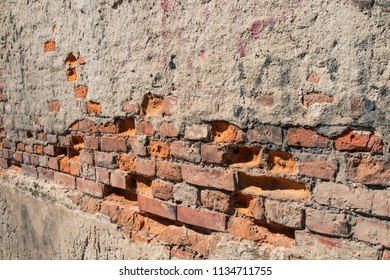 Old Wall Made by Red Bricks
