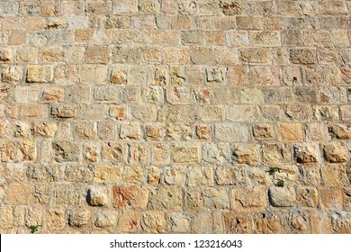 Old wall made of the Jerusalem stone
