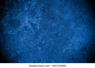 Old wall pattern texture cement blue dark abstract  blue color design are light with black gradient background. - Shutterstock ID 1937237842