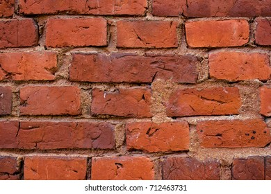 Old wall of red bricks