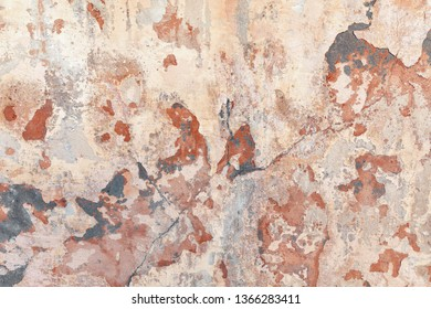 Old wall texture. Cracked concrete vintage wall background, old wall