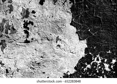 Old wall texture. The image of the wall, as a background. Image includes a effect the black and white tones.