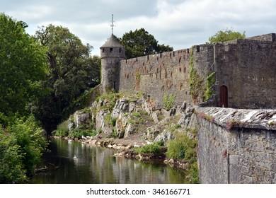 Old walls of Cahir castle