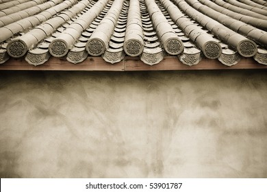 old walls and eaves
