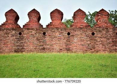 The old walls of Nakhon si thammarat province , Thailand.