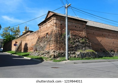 Old walls of Vinnytsia Mury, 1610-1617, is a historical and architectural complex of defensive and temple structures of the 17th century, Vinnytsia city, Ukraine