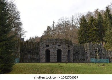 Old walls at World Cultural Heritage Herkules in Kassel, Wilhelmshöhe, Germany