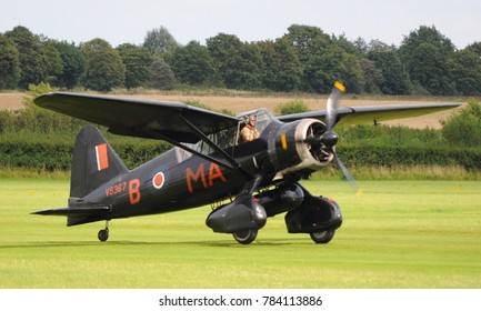 Old Warden Airfield, Beds / UK - 08/06/17: 1938 Westland Lysander in markings of 161 special duties Squadron taking off at the 2017 Edwardian Pagent held by the Shuttleworth Collection.