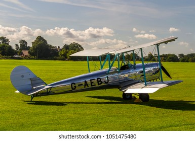 OLD WARDEN, BEDFORDSHIRE, UK – AUGUST 6, 2017: Blackburn B.2 Series 1 (C/N 6300/8) G-AEBJ on static display at Shuttleworth Airfield.