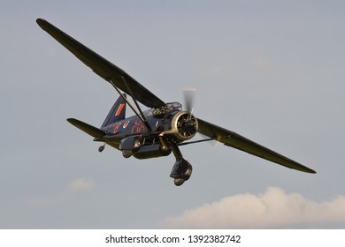 OLD WARDEN, BEDFORDSHIRE, UK – OCTOBER 5, 2014: Westland Lysander IIIA V9367 G-AZWT (CN Y1536), in 161 Squadron markings, on display at Old Warden airfield during the Shuttleworth Airshow.